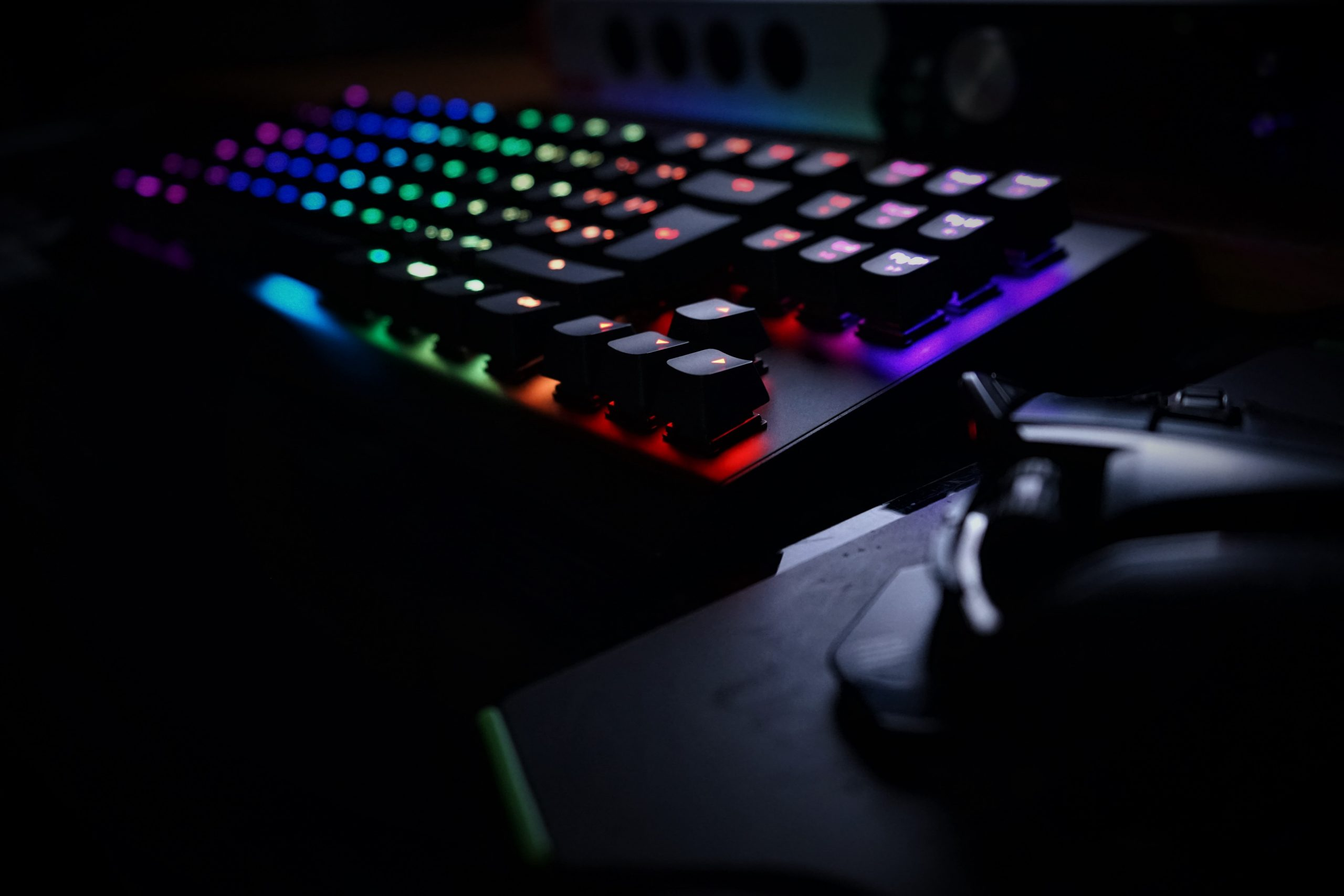 wooting one bookeh obscurité rgb