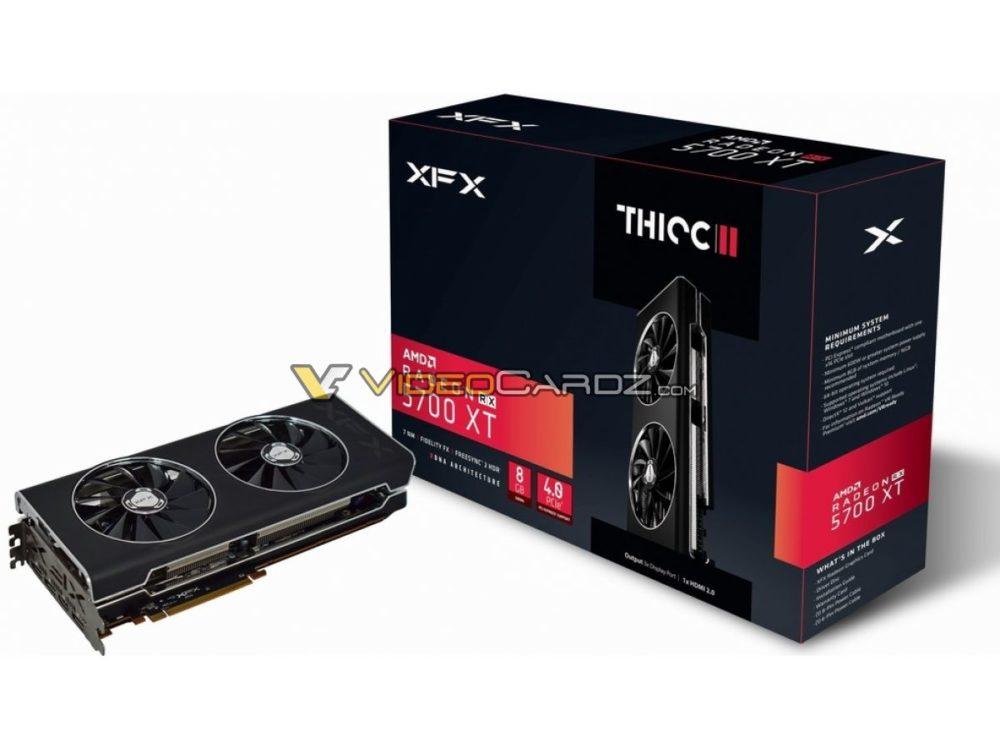 la XFX Radeon RX 5700 XT et sa boite
