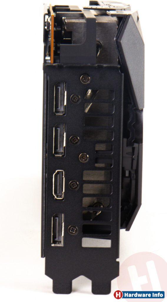 Connectiques de la Asus Radeon RX 5700