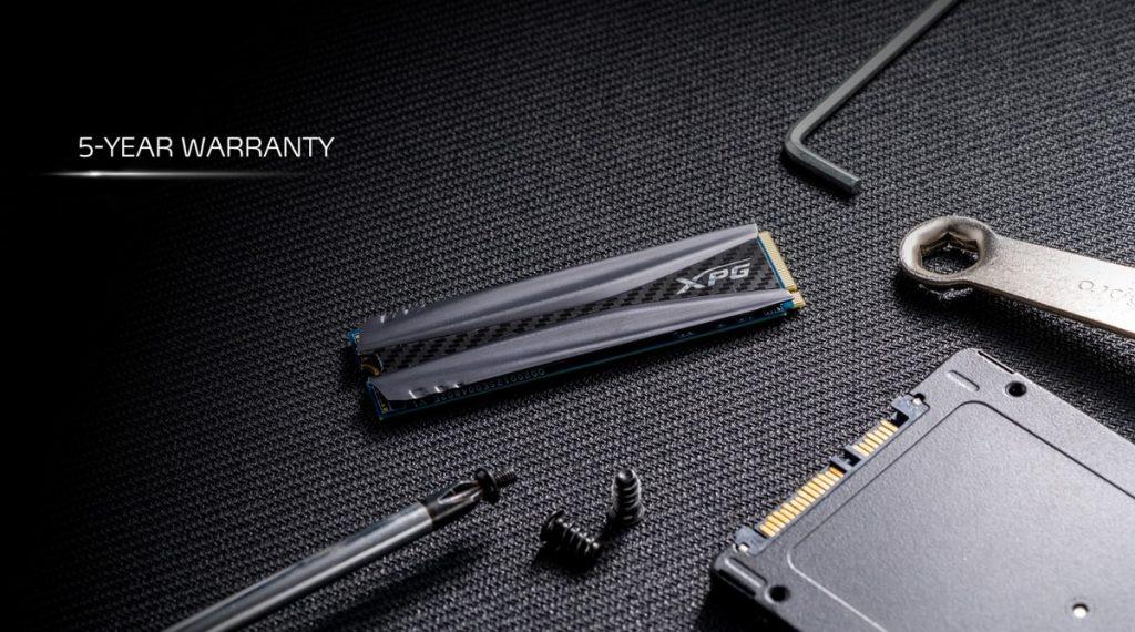 Le XPG GAMMIX S50 profite de 5 ans de garantie