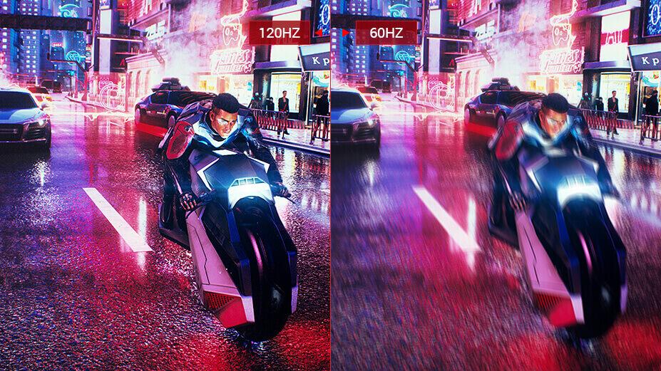 Le Asus ROG strix XG438Q a un écran de 120hz.