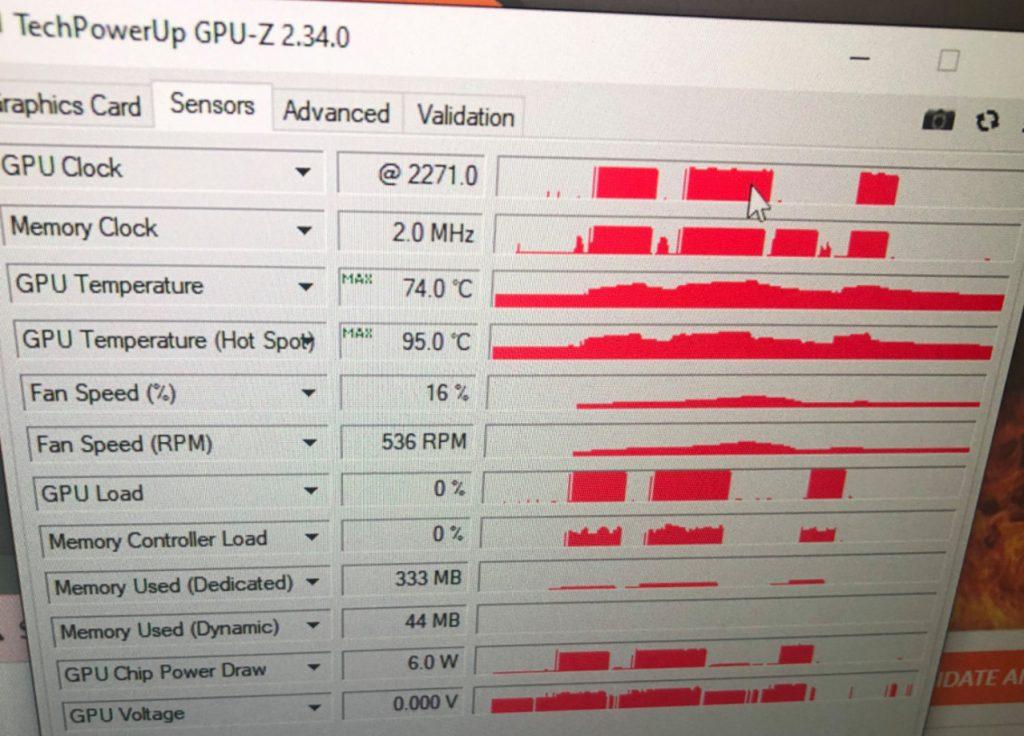 Résultats overclock RX 6800 non XT