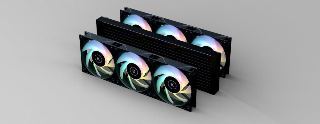 EK-AIO Elite 360 D-RGB et ses six ventilos